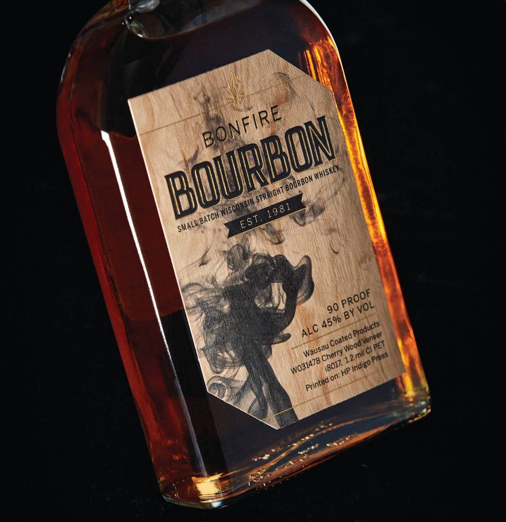 cherry wood bourbon label